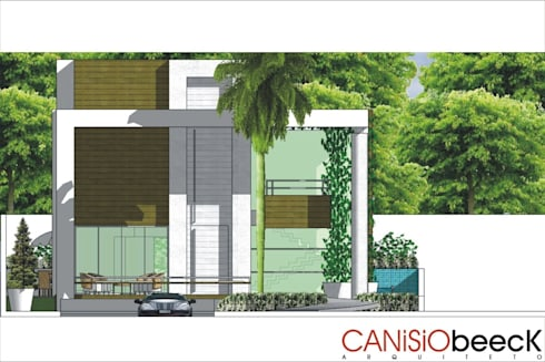 A10 Residência: Casas modernas por Canisio Beeck Arquiteto
