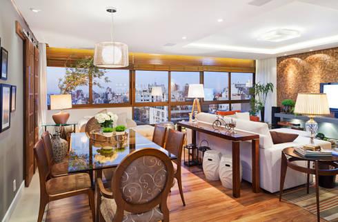 Apartamento Mont Serrat 2 - Porto Alegre - RS: Salas de jantar modernas por Mundstock Arquitetura