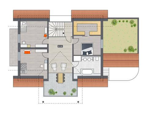 Dachgeschoss:   von Achtergarde + Welzel Architektur + Interior Design