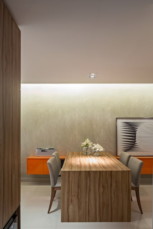 Apartamento TJ: Sala de jantar  por BEP Arquitetos Associados