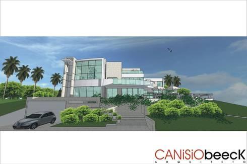 A13 Residência: Casas modernas por Canisio Beeck Arquiteto
