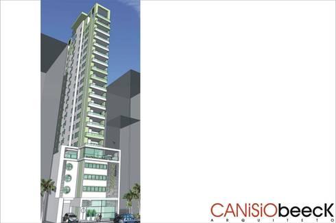 Edifício Lecence: Casas modernas por Canisio Beeck Arquiteto