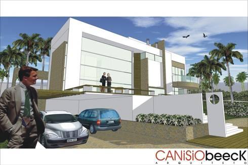 A21 Residência: Casas modernas por Canisio Beeck Arquiteto