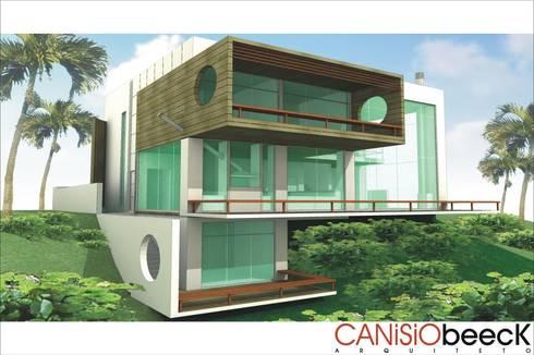 A24 Residência: Casas modernas por Canisio Beeck Arquiteto