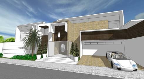 A25 Residência: Casas modernas por Canisio Beeck Arquiteto