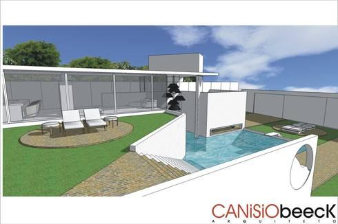 A27 Residência: Casas modernas por Canisio Beeck Arquiteto