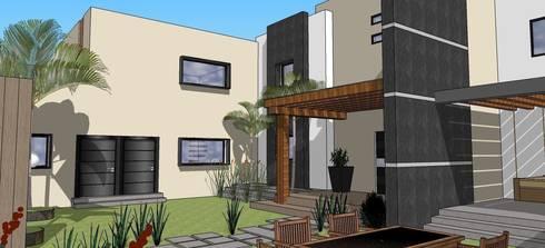 casa #195: Jardines de estilo moderno por Taller R arquitectura
