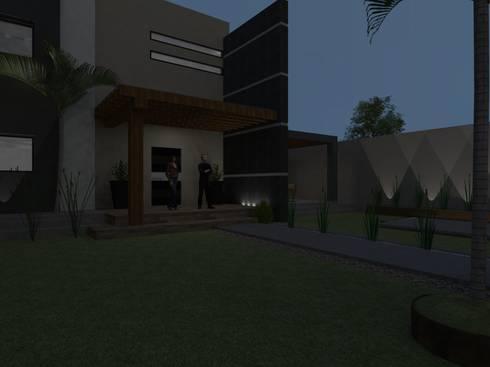 casa #195: Casas de estilo moderno por Taller R arquitectura
