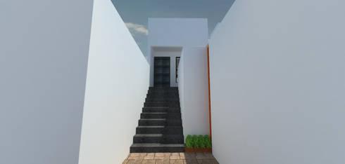 DEPTOS TERRA: Pasillos y recibidores de estilo  por WIGO SC