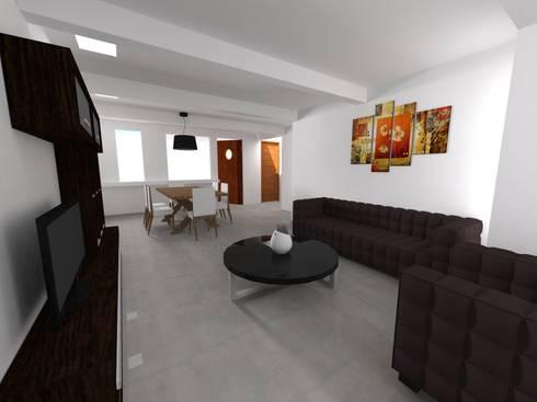 DEPTOS TERRA: Salas de estilo moderno por WIGO SC