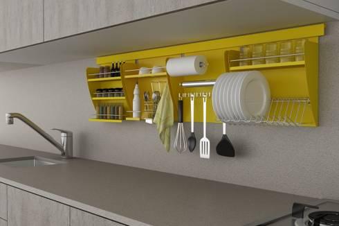 Nichos Organizadores para Cozinha: Cozinha  por Masutti Copat