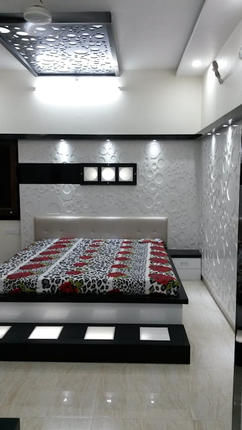 LALIT KUMAR FULWANI:  Bedroom by MAA ARCHITECTS & INTERIOR DESIGNERS