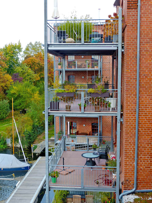 balkongestaltung mit individuellen balkonplatten von mineralit mineralgusswerk laage gmbh homify. Black Bedroom Furniture Sets. Home Design Ideas