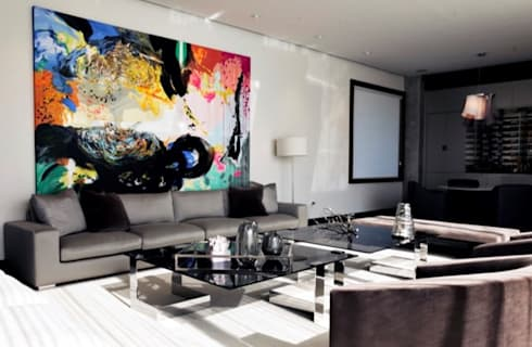 Residencia Las Calzadas: Salas de estilo moderno por BAO