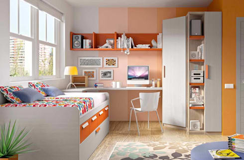 DORMITORIOS: Dormitorios infantiles de estilo moderno de CREA Y DECORA MUEBLES