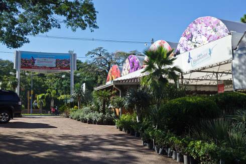 Área de Entrada da Empresa Vista Interna: Espaços comerciais  por Blumengarten Plantas e Flores LTDA