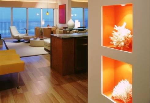 Departamento Lighthouse, South Padre Island, Tx: Salas de estilo moderno por BAO