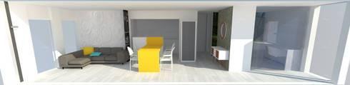 NewLook-Salón-cocina integrada: Salones de estilo moderno de Kiki Karam TuArquitectaPersonal