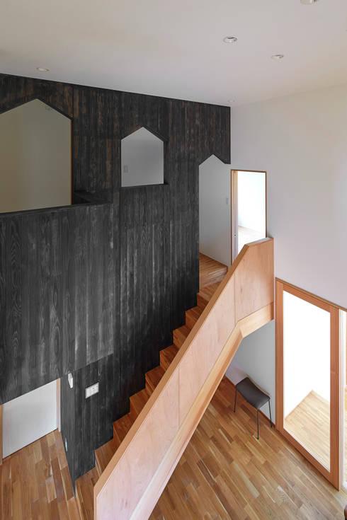階段: ケンチックス一級建築士事務所が手掛けた廊下 & 玄関です。