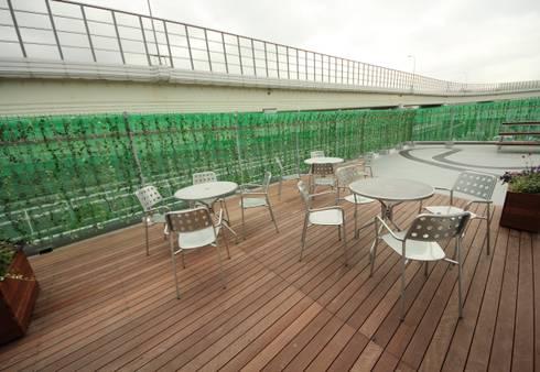 開放的でリラックスできる空間: 株式会社ヴィスが手掛けたオフィススペース&店です。
