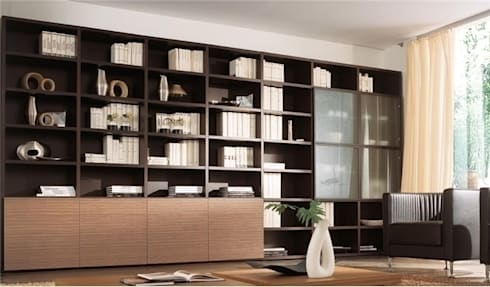Libreria componibile in legno mod. Wood by soloLibrerie | homify