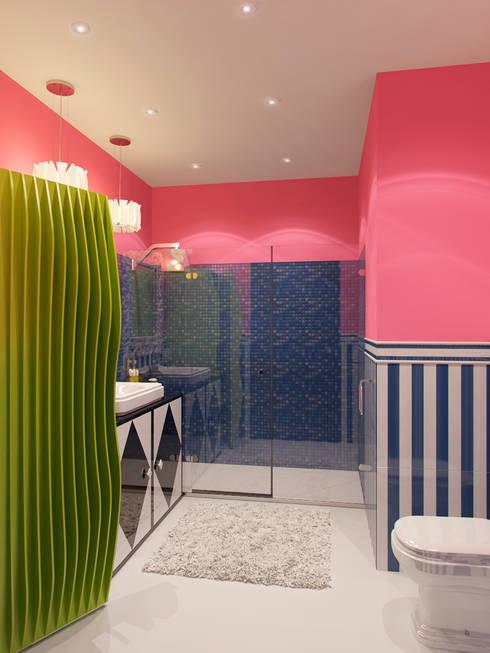 Квартира в стиле Энди Уорхола: Ванные комнаты в . Автор – Студия дизайна интерьера Маши Марченко
