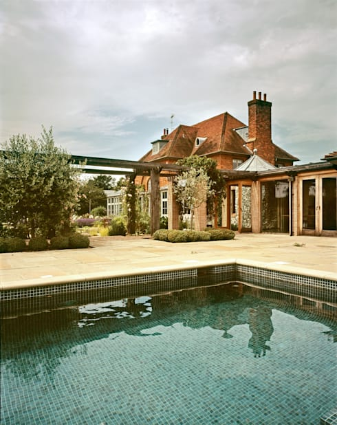 View from pool: classic Houses by Giles Jollands Architect
