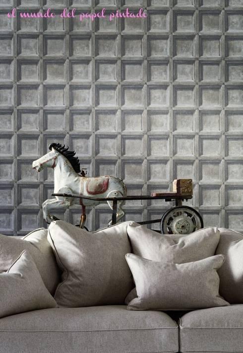 Andrew Martin - Attic: Paredes y suelos de estilo moderno de El Mundo del Papel Pintado