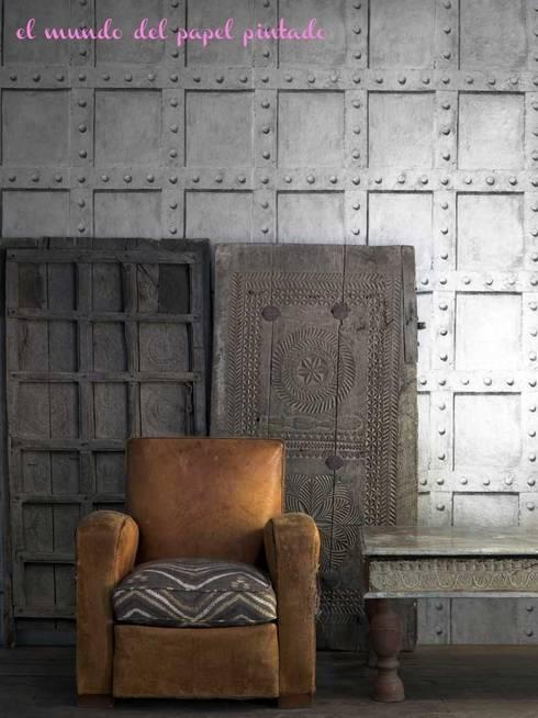 Andrew Martin - Engineer: Paredes y suelos de estilo industrial de El Mundo del Papel Pintado