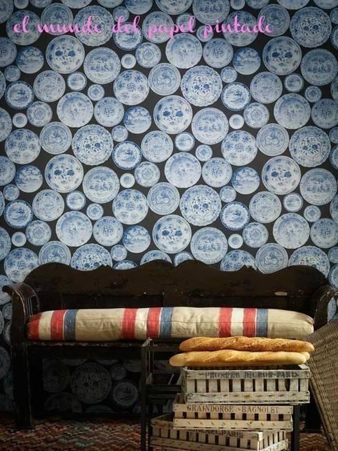 Andrew Martin - Museum: Paredes y suelos de estilo clásico de El Mundo del Papel Pintado