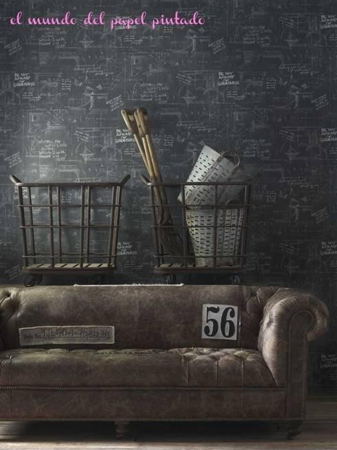 Paredes y pisos de estilo moderno por El Mundo del Papel Pintado