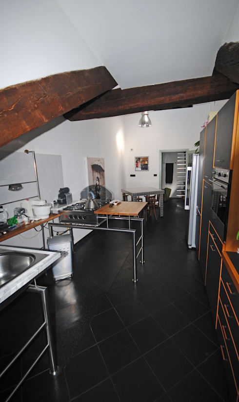 La cucina industriale: Cucina in stile in stile Industriale di ARCHILOCO studio associato