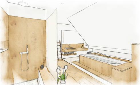badplanung ahaus von baqua manufaktur f r b der homify. Black Bedroom Furniture Sets. Home Design Ideas