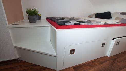 nischen einbau bett von bl m belwerk homify. Black Bedroom Furniture Sets. Home Design Ideas