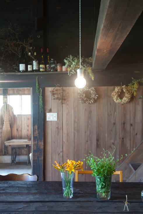 森の家 インテリア: 井上貴詞建築設計事務所が手掛けたインテリアランドスケープです。