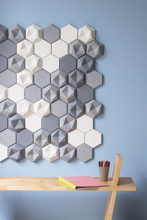 edgy wandfliesen von patrycja domanska homify. Black Bedroom Furniture Sets. Home Design Ideas