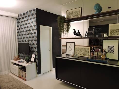 apartamento WB: Sala de estar  por SPOT161 arquitetura + design