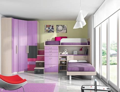 Dormitorios juveniles por muebles duero homify for Dormitorios juveniles tipo tren