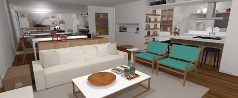 APARTAMENTO BARRA:   por Carolina Mendonça Projetos de Arquitetura e Interiores LTDA