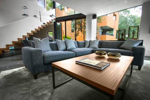 Casa Avandaro: Salas de estilo moderno por Concepto Taller de Arquitectura