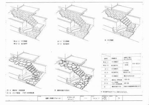 アプローチ階段検討: アーテック・にしかわ/アーテック一級建築士事務所が手掛けたです。