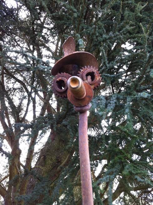 Sculptures musicales en c ramique et m tal pour le jardin - Sculpture metal jardin ...
