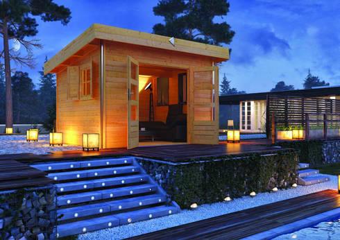 gartenhaus serie chrome line von karibu holztechnik gmbh homify. Black Bedroom Furniture Sets. Home Design Ideas