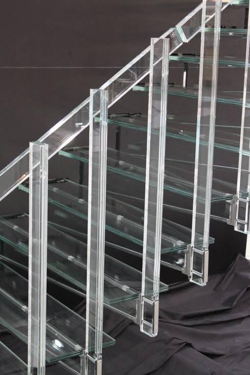 Detail der fertigen Stufen:  Flur & Diele von Glaserei Schmitt
