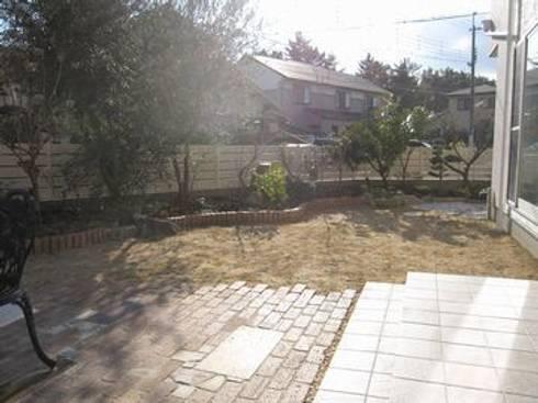 塀際に果樹を列植: アーテック・にしかわ/アーテック一級建築士事務所が手掛けた庭です。