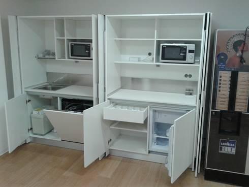 Cucine a scomparsa cm.130 con ante rientranti di Minicucine.com ...