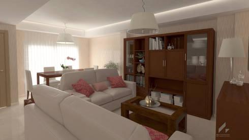 Render Propuesta: Salones de estilo moderno de AG INTERIORISMO
