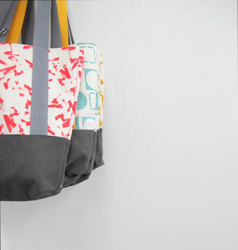 Tote Bags:  Household by Anna Bird Textiles