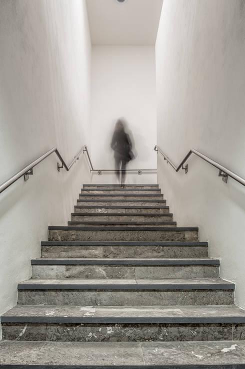 Прихожая, коридор и лестницы в . Автор – ARQUITECTURA EN PROCESO