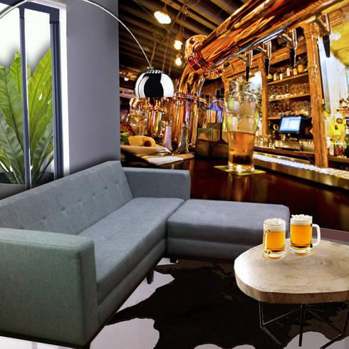 BAR: Salas multimedia de estilo moderno por MINT INTERIORISMO